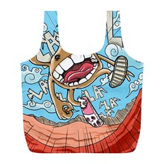 Illustration Characters Comics Draw Full Print Recycle Bags (l)