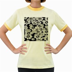 Mandala Calming Coloring Page Women s Fitted Ringer T Shirts