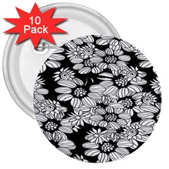 Mandala Calming Coloring Page 3  Buttons (10 Pack)