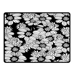 Mandala Calming Coloring Page Double Sided Fleece Blanket (small)