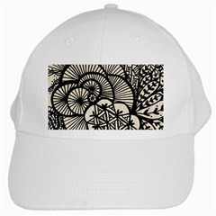 Background Abstract Beige Black White Cap