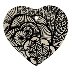 Background Abstract Beige Black Ornament (heart)