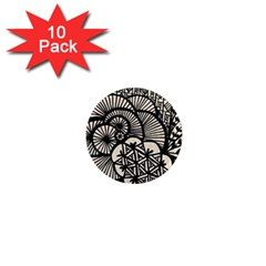 Background Abstract Beige Black 1  Mini Magnet (10 Pack)