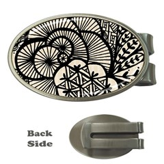 Background Abstract Beige Black Money Clips (oval)