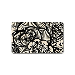 Background Abstract Beige Black Magnet (name Card)