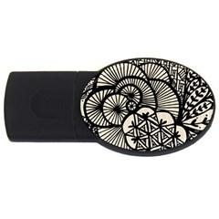 Background Abstract Beige Black Usb Flash Drive Oval (4 Gb)