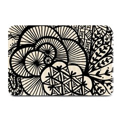 Background Abstract Beige Black Plate Mats