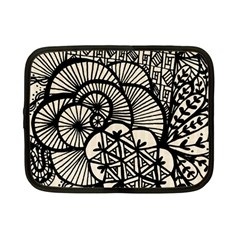 Background Abstract Beige Black Netbook Case (small)