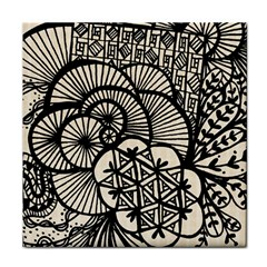 Background Abstract Beige Black Face Towel