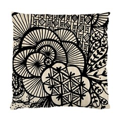 Background Abstract Beige Black Standard Cushion Case (two Sides)