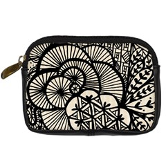 Background Abstract Beige Black Digital Camera Cases