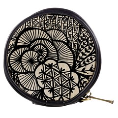 Background Abstract Beige Black Mini Makeup Bags