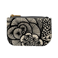 Background Abstract Beige Black Mini Coin Purses