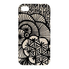 Background Abstract Beige Black Apple Iphone 4/4s Hardshell Case