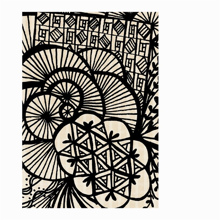 Background Abstract Beige Black Small Garden Flag (Two Sides)