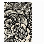 Background Abstract Beige Black Small Garden Flag (Two Sides) Back