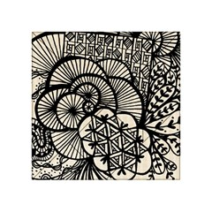 Background Abstract Beige Black Acrylic Tangram Puzzle (4  X 4 )