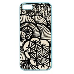 Background Abstract Beige Black Apple Seamless Iphone 5 Case (color)
