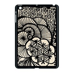 Background Abstract Beige Black Apple Ipad Mini Case (black)