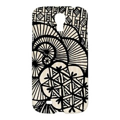 Background Abstract Beige Black Samsung Galaxy S4 I9500/i9505 Hardshell Case
