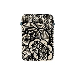 Background Abstract Beige Black Apple Ipad Mini Protective Soft Cases