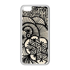 Background Abstract Beige Black Apple Iphone 5c Seamless Case (white)