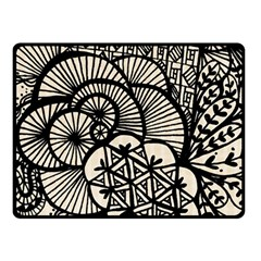 Background Abstract Beige Black Double Sided Fleece Blanket (small)