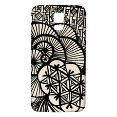 Background Abstract Beige Black Samsung Galaxy S5 Back Case (white)