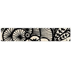 Background Abstract Beige Black Large Flano Scarf