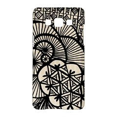 Background Abstract Beige Black Samsung Galaxy A5 Hardshell Case