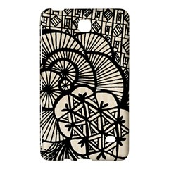 Background Abstract Beige Black Samsung Galaxy Tab 4 (7 ) Hardshell Case
