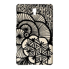 Background Abstract Beige Black Samsung Galaxy Tab S (8 4 ) Hardshell Case