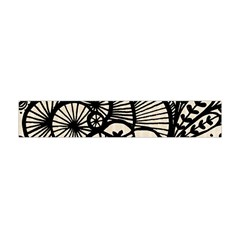 Background Abstract Beige Black Flano Scarf (mini)
