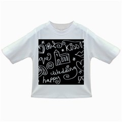 Wedding Chalkboard Icons Set Infant/toddler T Shirts