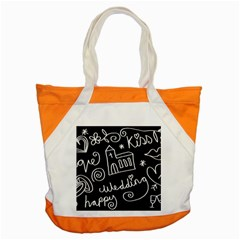 Wedding Chalkboard Icons Set Accent Tote Bag
