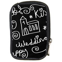 Wedding Chalkboard Icons Set Compact Camera Cases
