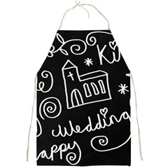 Wedding Chalkboard Icons Set Full Print Aprons