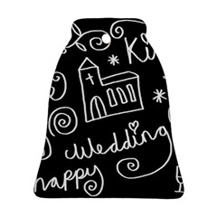 Wedding Chalkboard Icons Set Bell Ornament (two Sides)