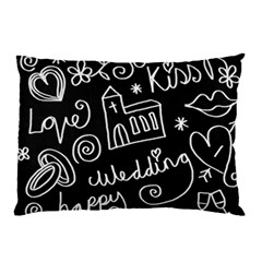 Wedding Chalkboard Icons Set Pillow Case (two Sides)