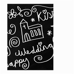 Wedding Chalkboard Icons Set Small Garden Flag (two Sides)