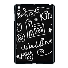 Wedding Chalkboard Icons Set Apple Ipad Mini Case (black)