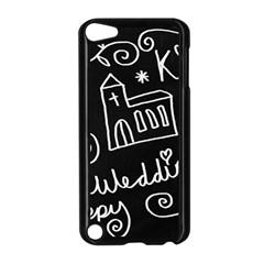 Wedding Chalkboard Icons Set Apple Ipod Touch 5 Case (black)
