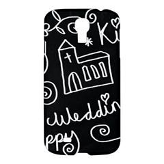 Wedding Chalkboard Icons Set Samsung Galaxy S4 I9500/i9505 Hardshell Case