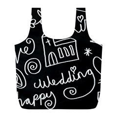 Wedding Chalkboard Icons Set Full Print Recycle Bags (l)