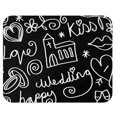 Wedding Chalkboard Icons Set Double Sided Flano Blanket (medium)