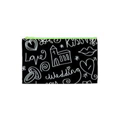 Wedding Chalkboard Icons Set Cosmetic Bag (xs)
