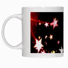 Circle Lines Wave Star Abstract White Mugs