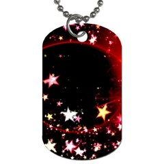 Circle Lines Wave Star Abstract Dog Tag (one Side)