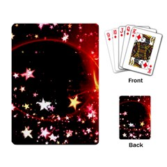Circle Lines Wave Star Abstract Playing Card
