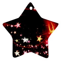 Circle Lines Wave Star Abstract Star Ornament (two Sides)